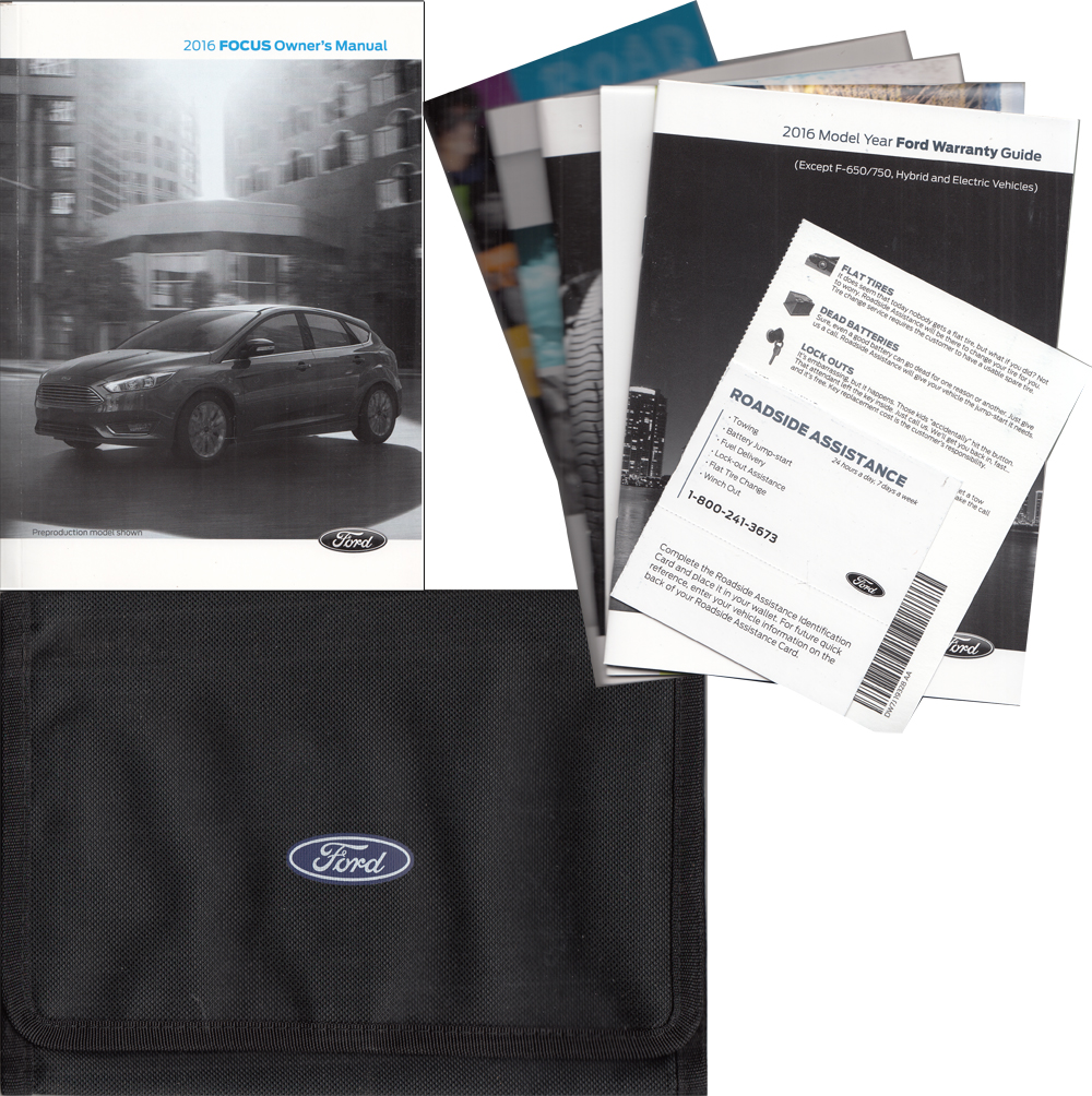 2016 Ford Focus Owner's Manual Original With Case and Pamphlets