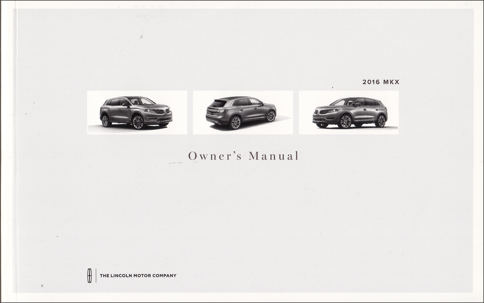 2016 Lincoln MKX Owner's Manual Original