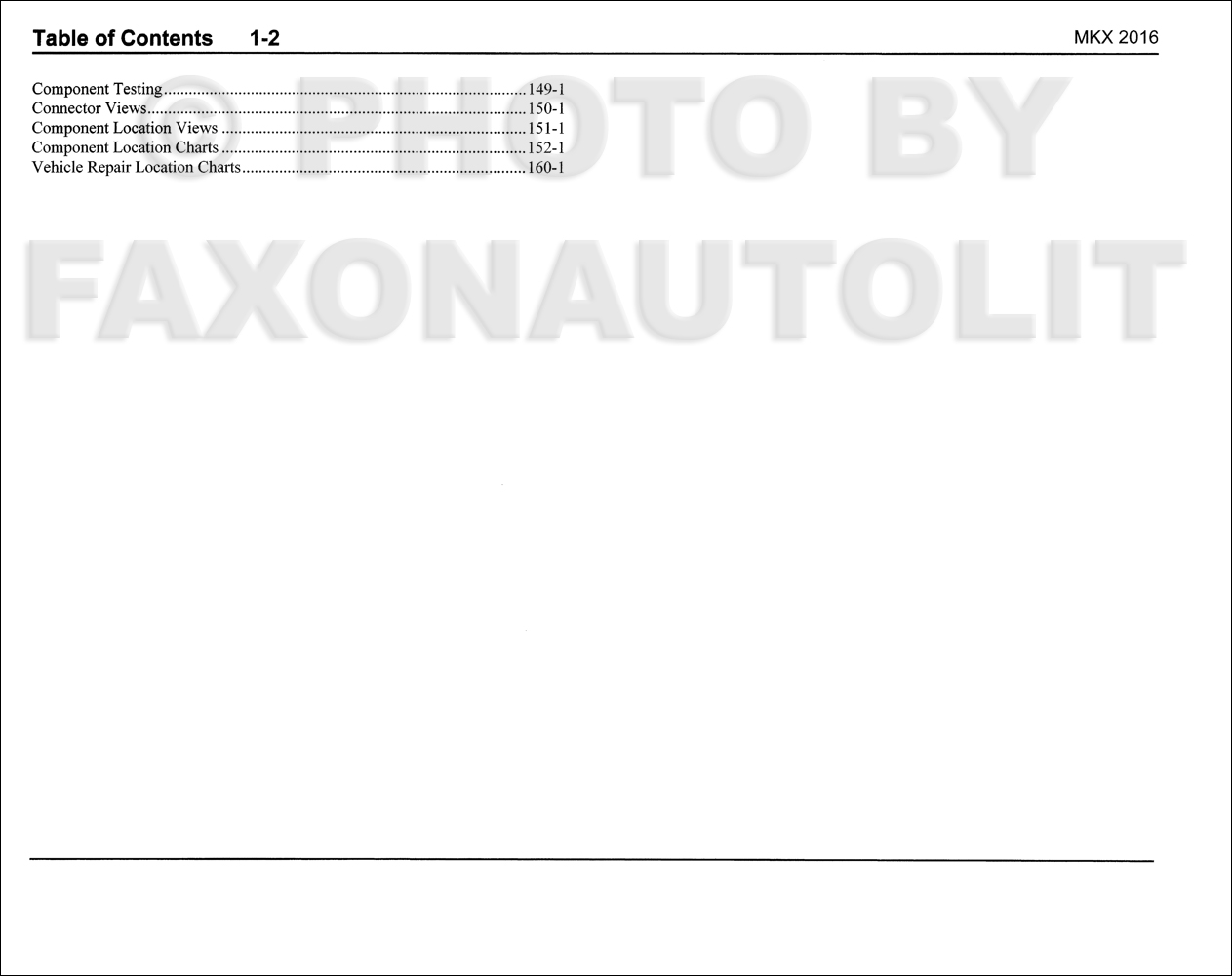 2016 lincoln mkx wiring diagram manual original