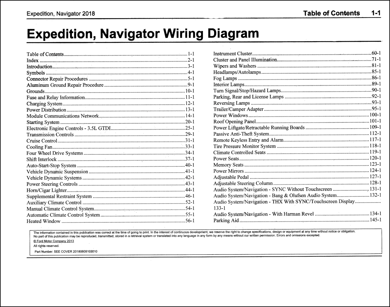 2018 Ford Expedition Lincoln Navigator Wiring Diagram