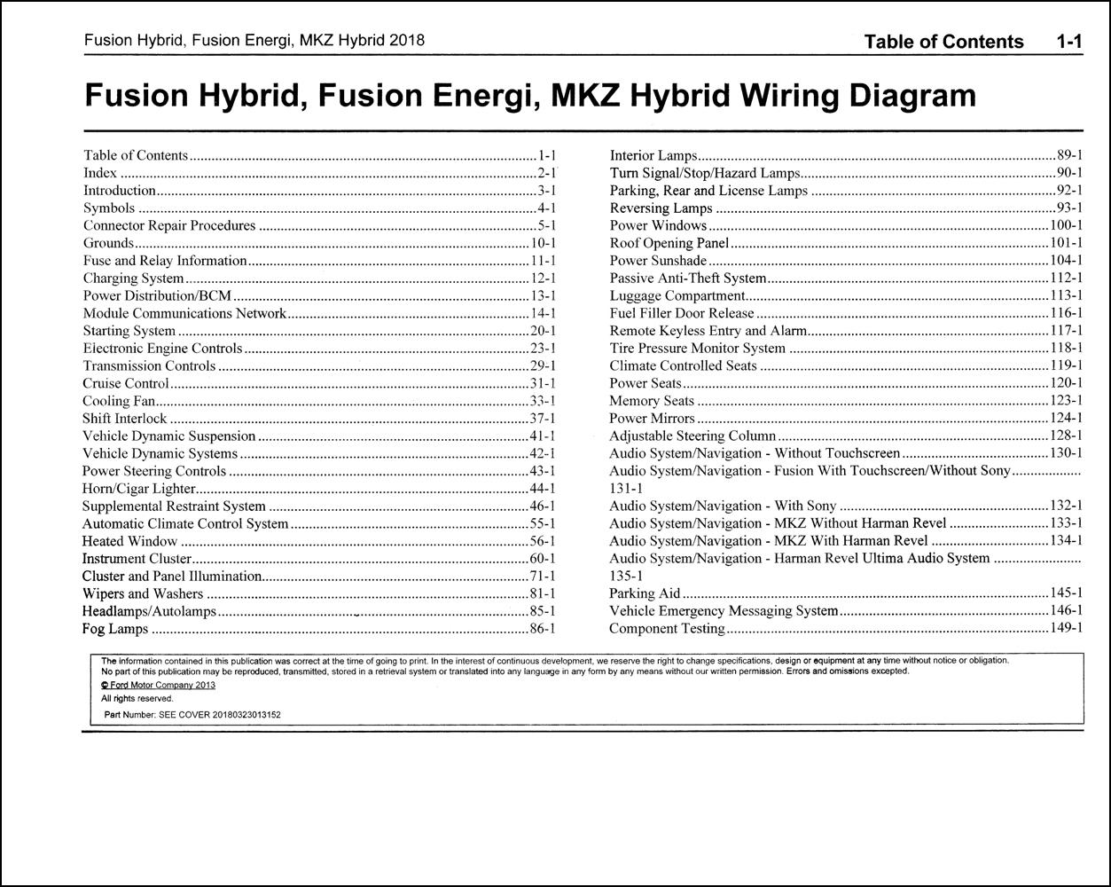 2018 Ford Fusion Energi  Hybrid Lincoln Mkz Hybrid Wiring