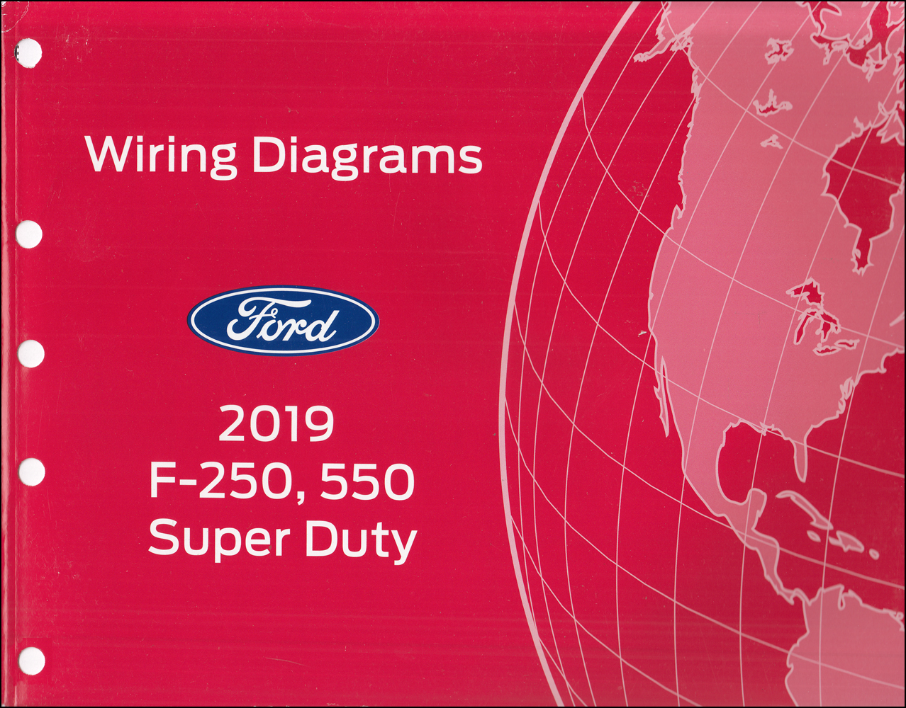 2019 ford f250-f550 super duty pickup truck wiring diagram manual original  faxon auto literature