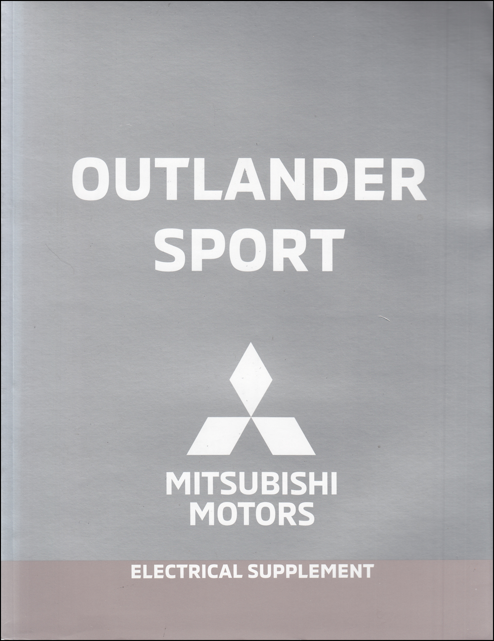 2019 Mitsubishi Outlander Sport Wiring Diagram Manual Original