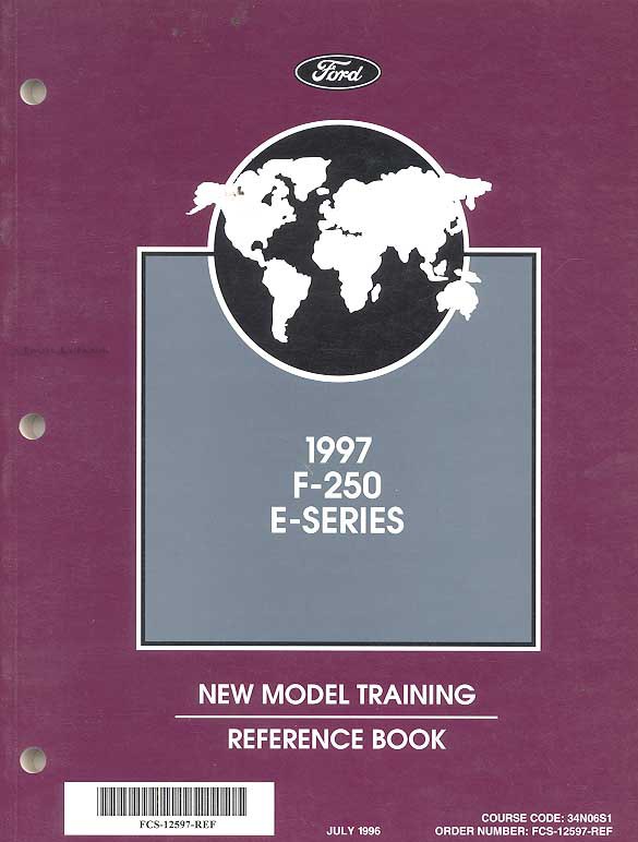 1997 Ford Econoline Van Training Reference Book E150