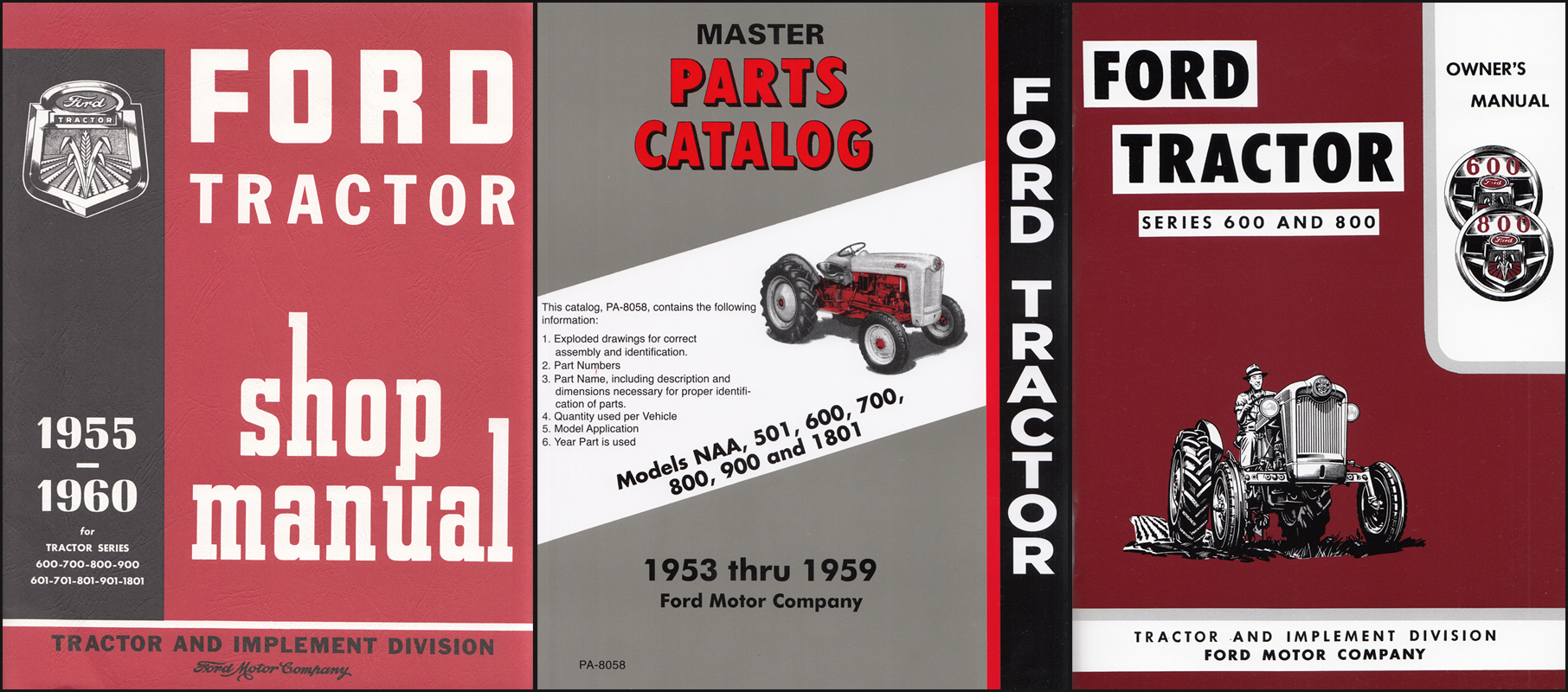bishko automotive literature 1955 1956 1957 Ford 600 800 Tractor Owners Manual User Guide Operator Book Fuses