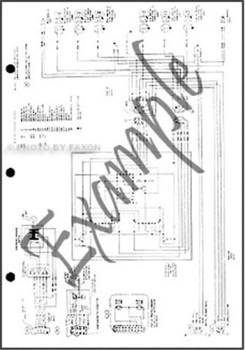 1987 Ford Ranger and Bronco II Factory Foldout Wiring Diagram