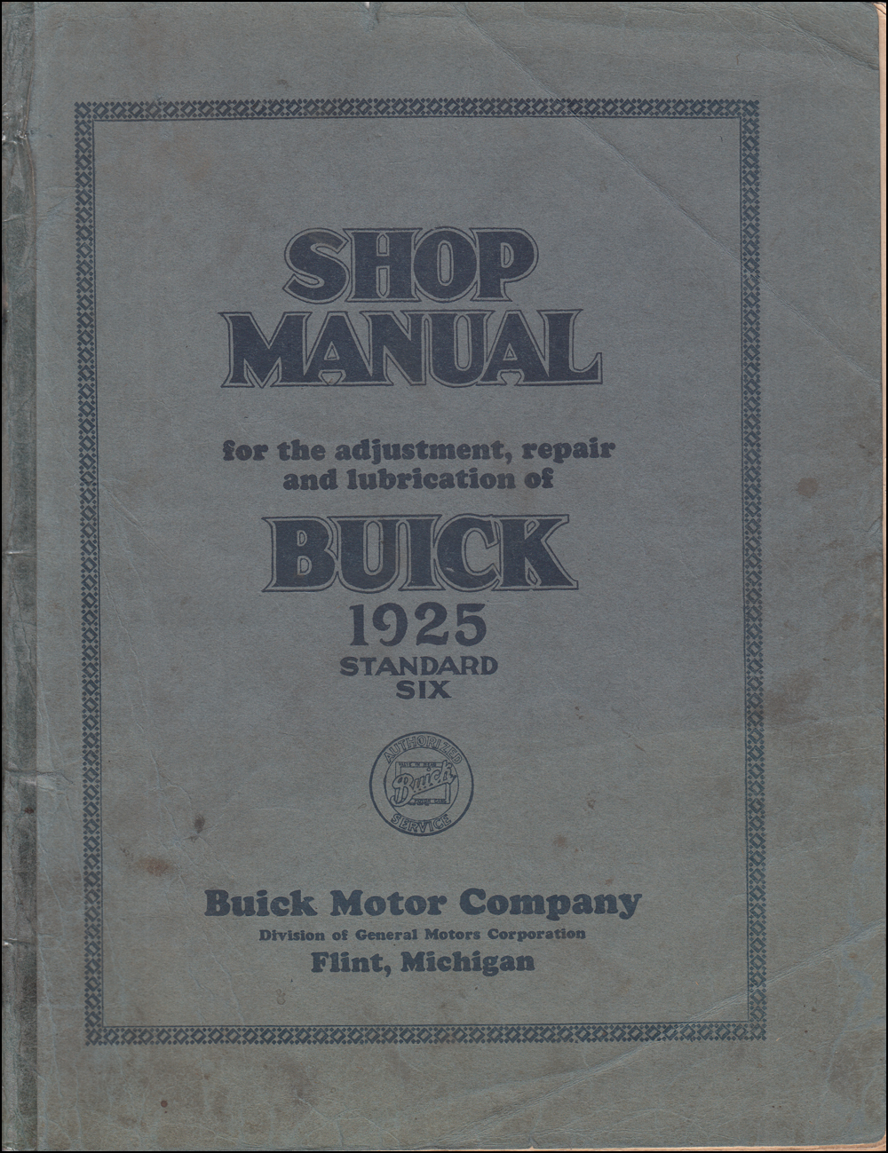 1926 Buick Standard & Master Six Repair Manual Reprint