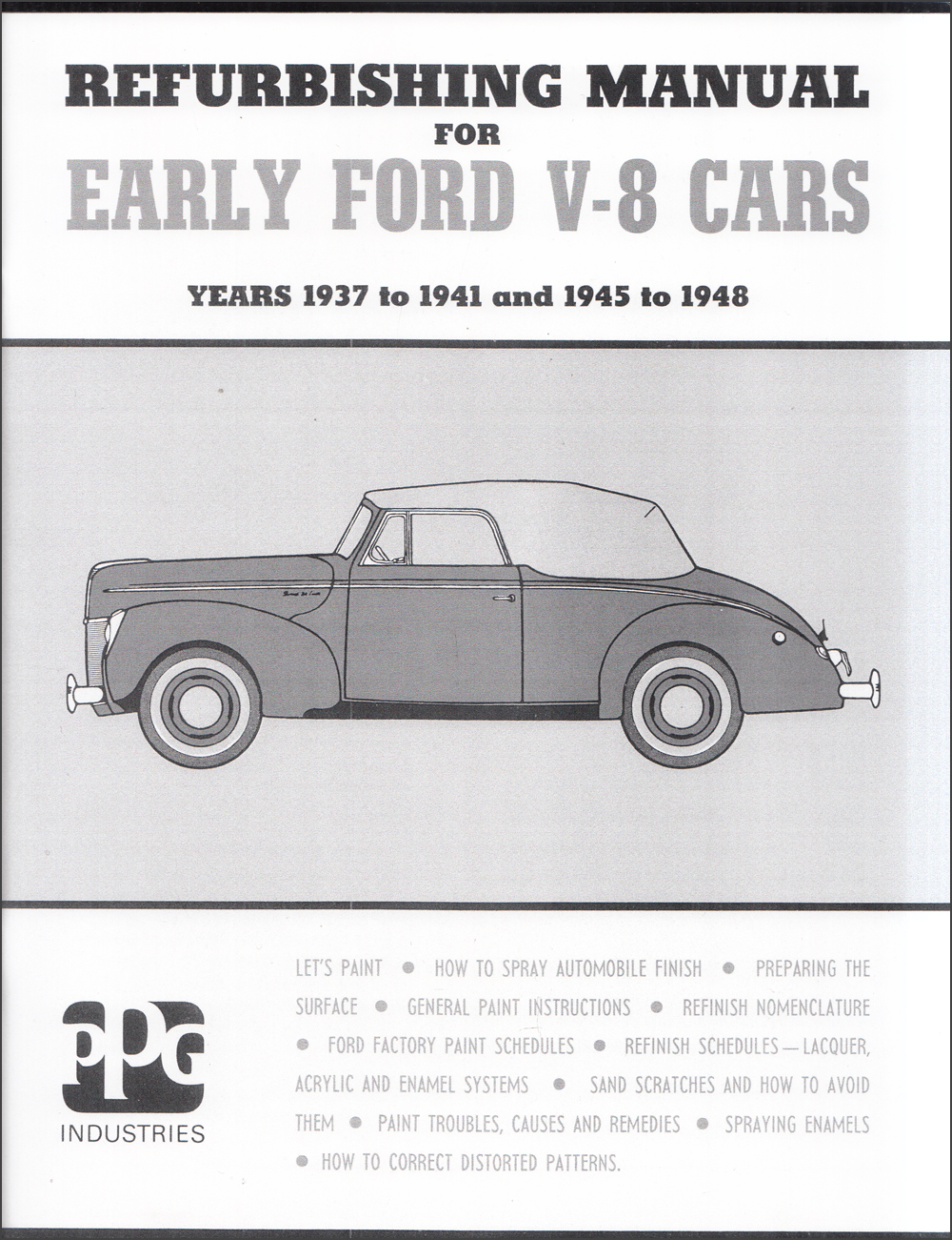 1937-1948 Ford Repaint Manual Model V8