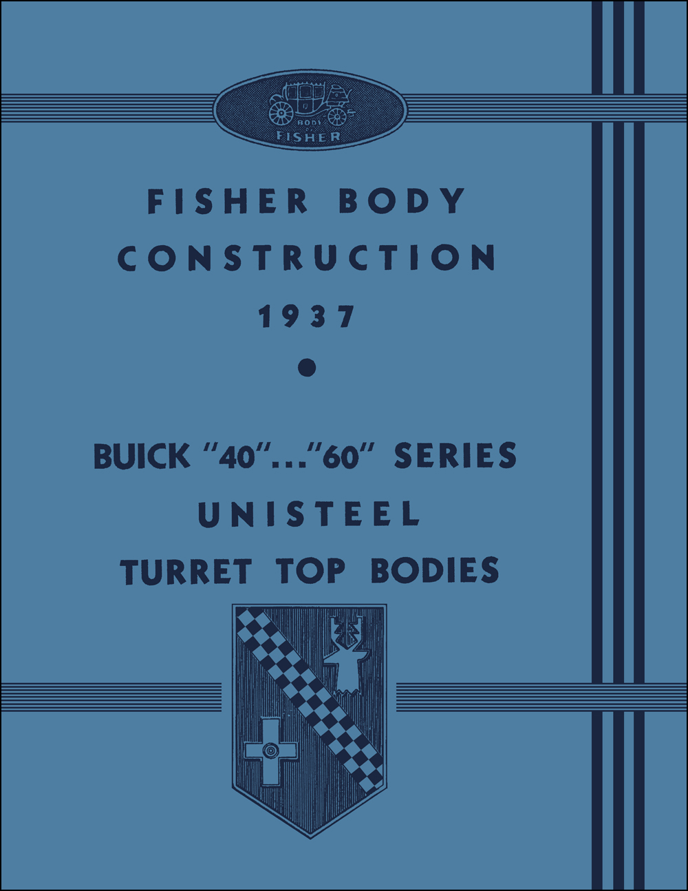 1937 Buick Century and Special Fisher Body Repair Shop Manual Reprint