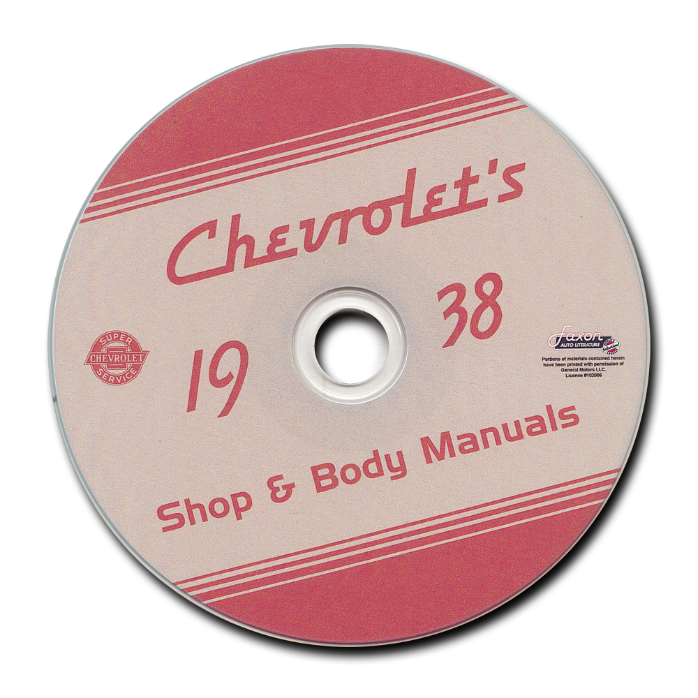 1937-1938 Chevrolet CD-ROM Shop Manual