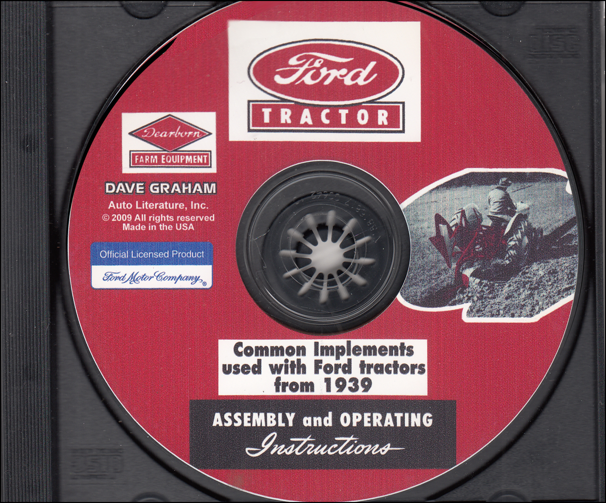 1939-1964 Ford Tractor Dearborn Implement Assembly and Operating Instruction Manual CD