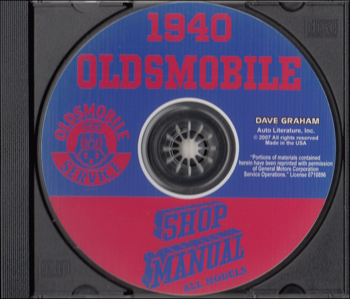 1940 Oldsmobile CD-ROM Shop Manual