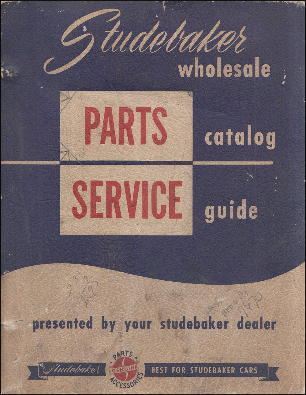 1947-1954 Studebaker Wholesale Parts Book Original with Service Tips