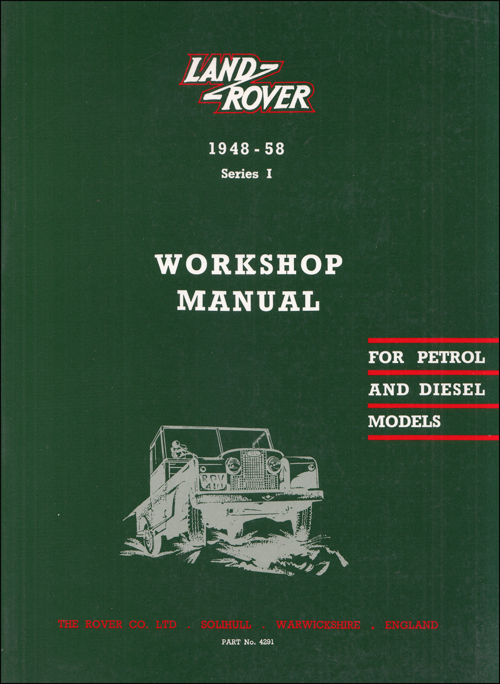 1948-1958 Land Rover Series I Repair Manual Reprint