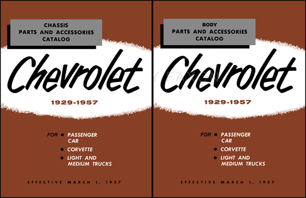 1949-1957 Chevrolet Master Parts Catalog Reprint 2 Volume Set
