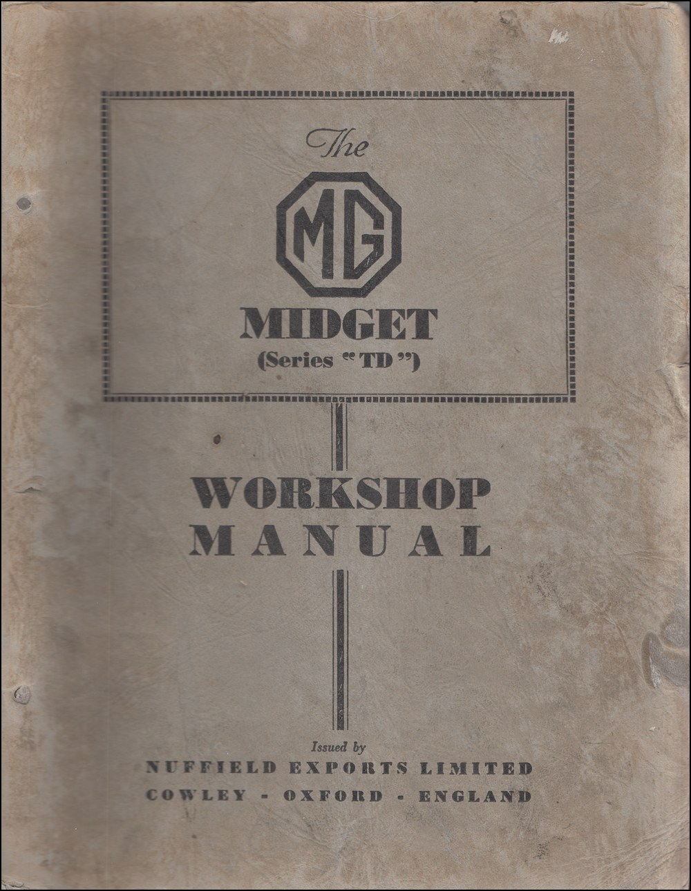1950-1953 MG Midget Repair Manual Original
