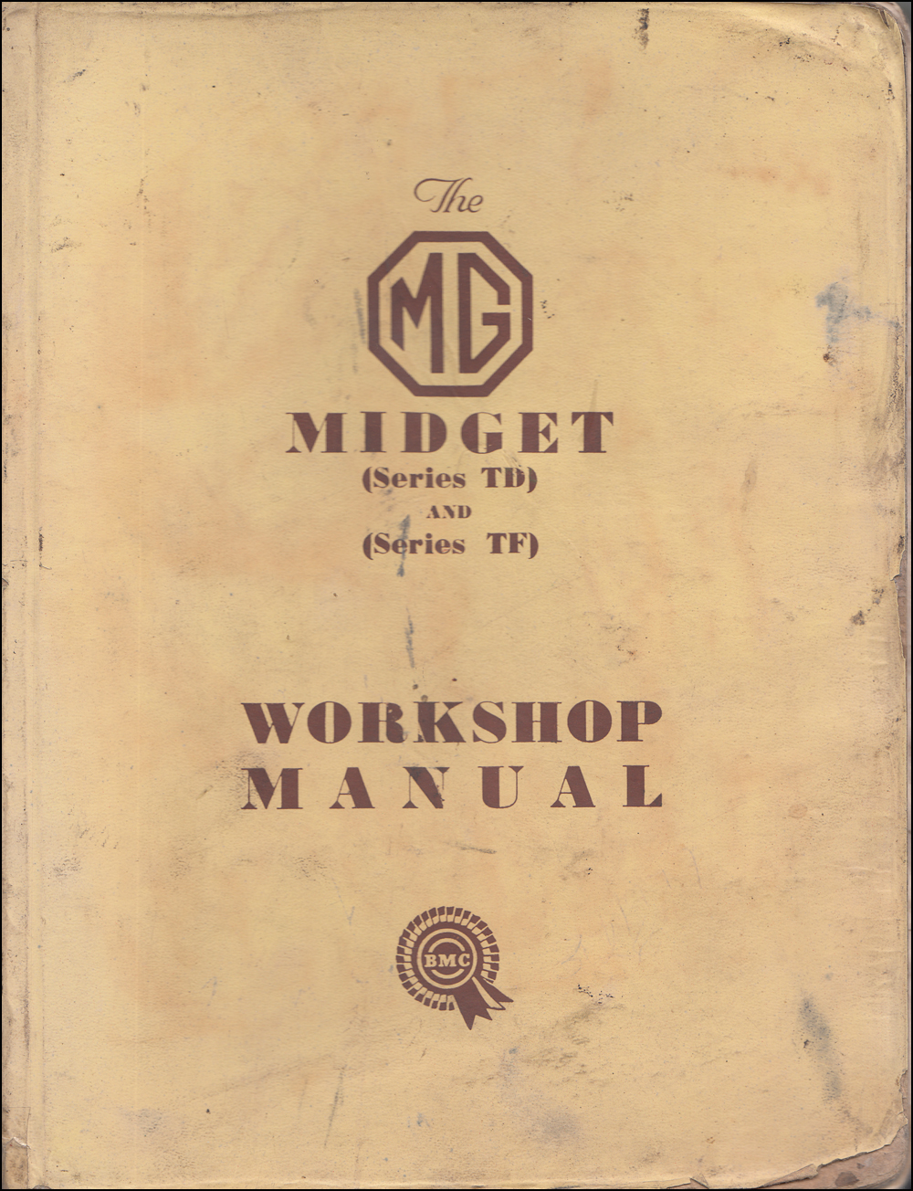 1950-1955 MG Midget TD and TF Repair Manual Original RHD