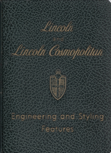 1951 Lincoln Data Book Original
