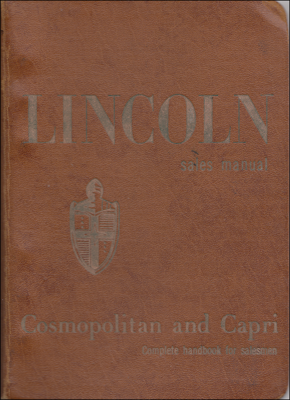 1953 Lincoln Data Book Original