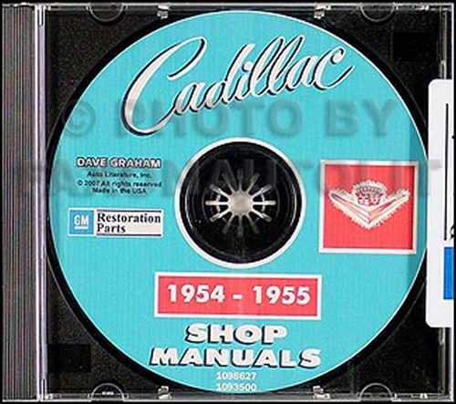 1954-1955 Cadillac Shop Manuals on CD for all models 54-55
