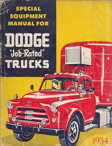 1954 Dodge Truck Special Equipment Manual Dealer Album