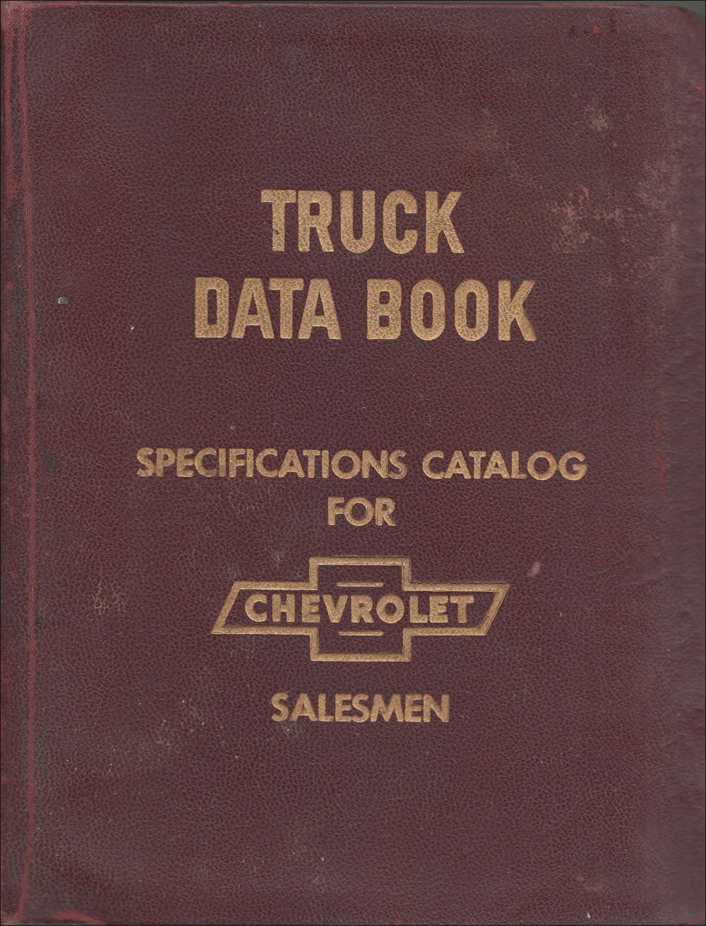 1959 Chevrolet Truck Data Book Original