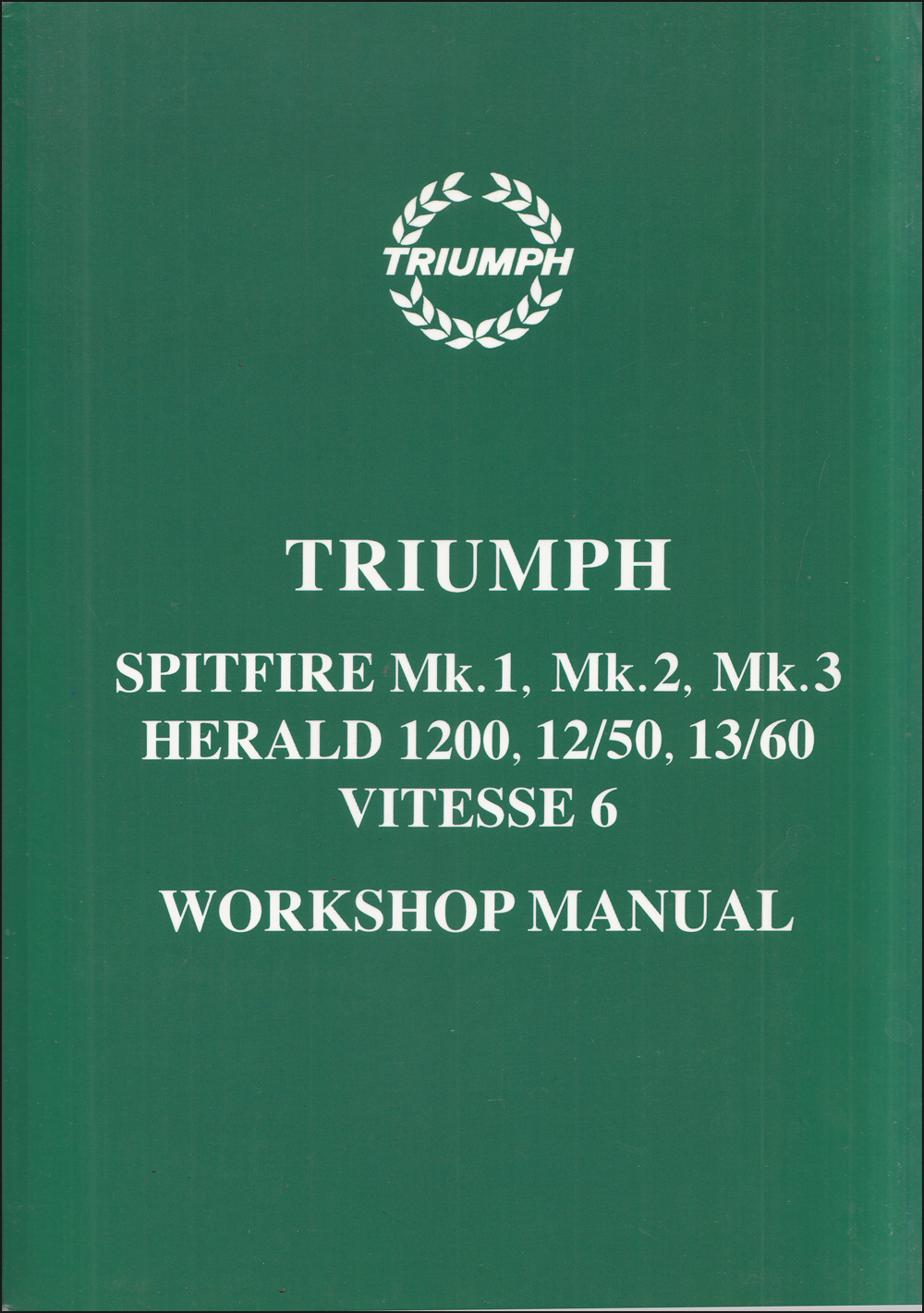 1960-1970 Triumph Spitfire and Herald Repair Shop Manual Reprint