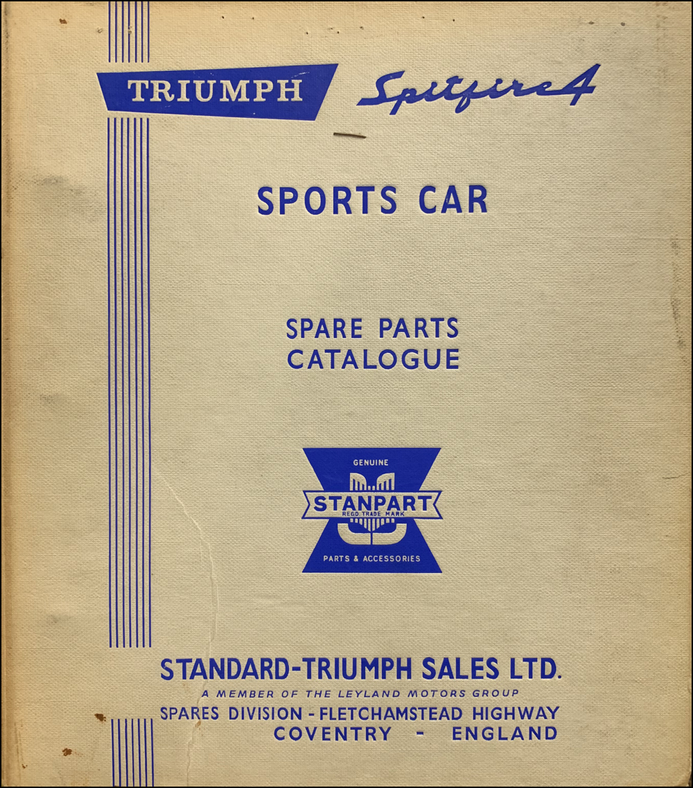 1963-1967 Triumph Spitfire Mark I & II Parts Book Original