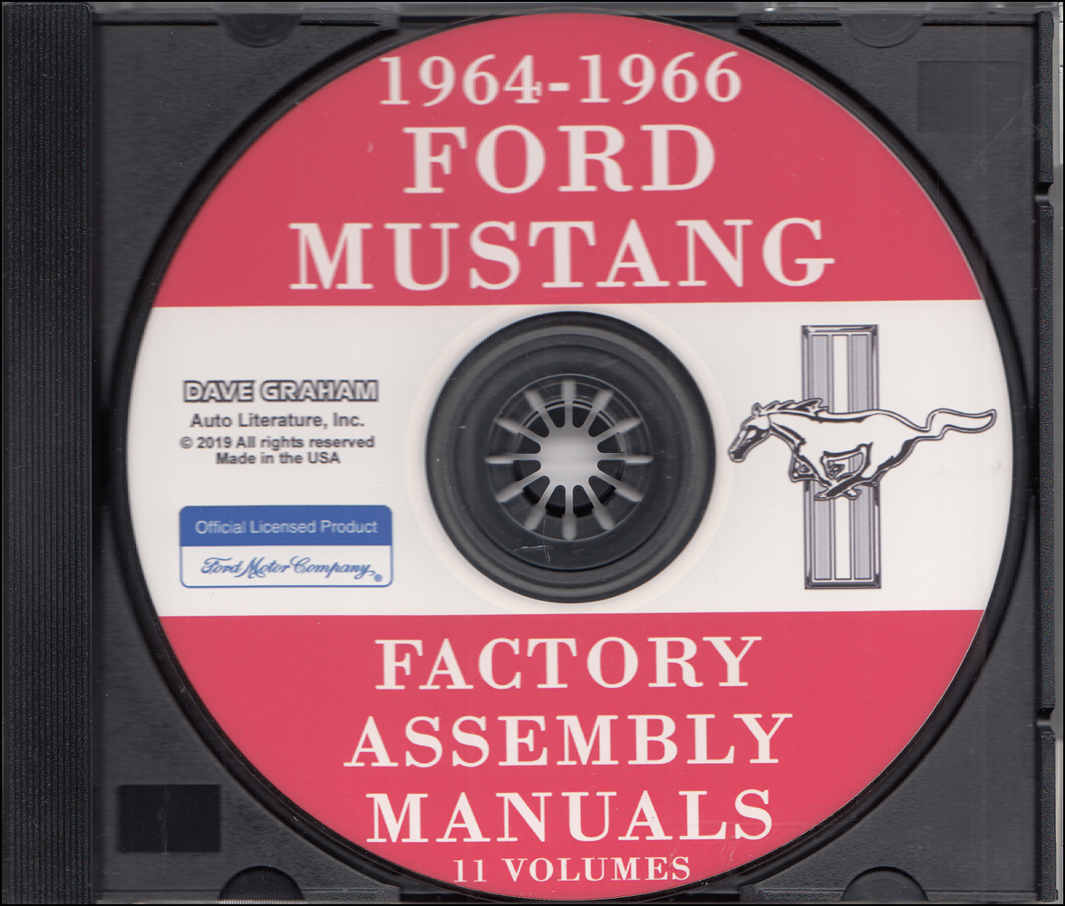 1964 Ford Repair Shop Manual And Parts Book Cd Falcon Ranchero Mustang Comet