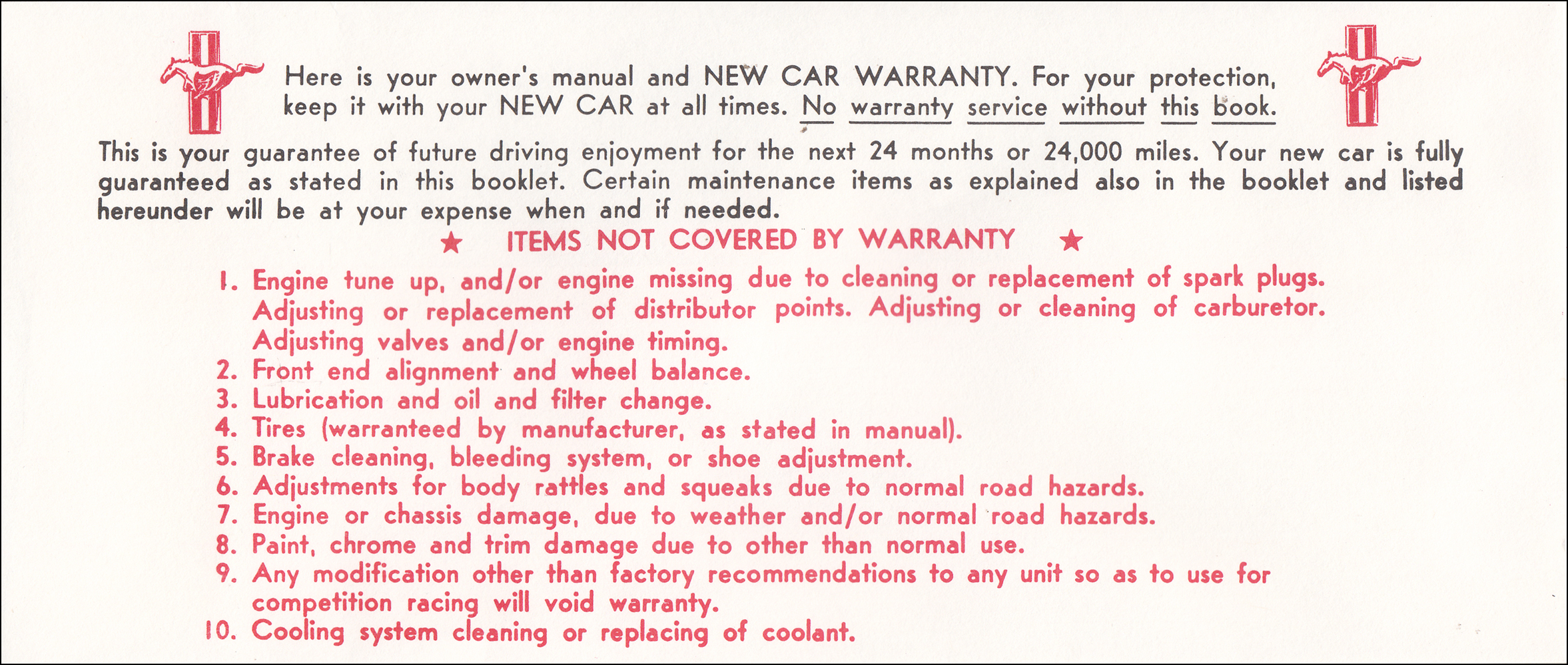 1965 Ford Mustang Owners Manual Reprint With Envelope Original Wiring Diagram Of Comet Click On Thumbnail To Zoom