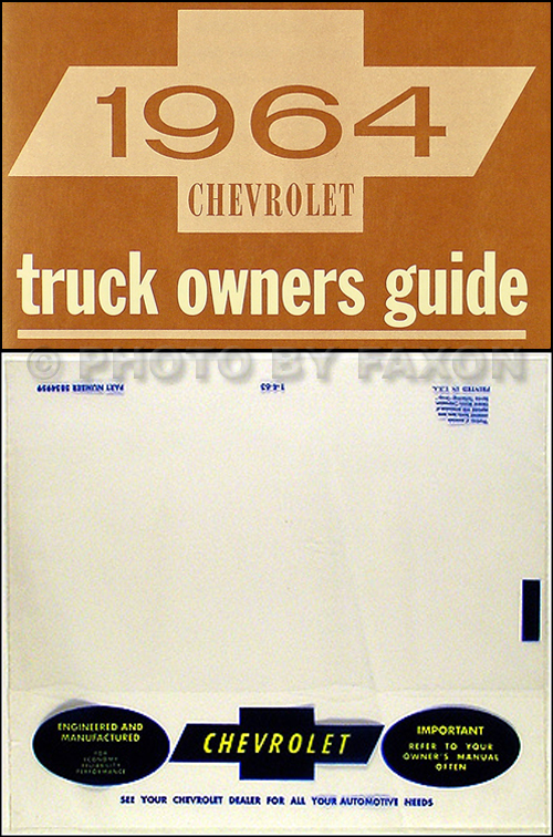 1964 chevrolet pickup & truck owner's manual package reprint on 1972 chevy  starter wiring diagram,