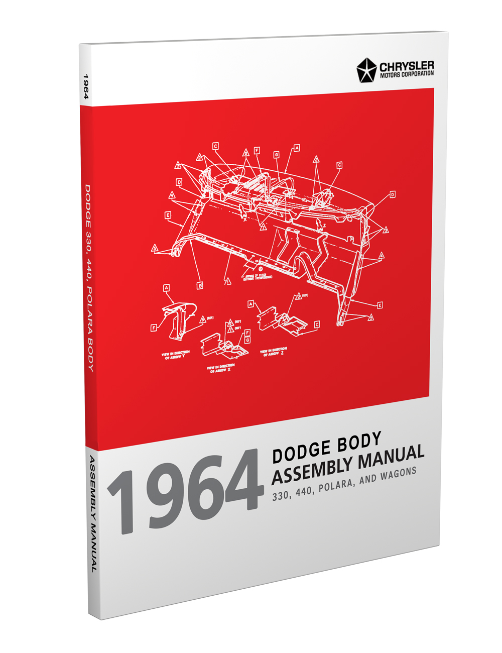 1964 Dodge Polara, 330, and 440 Body Assembly Manual Reprint