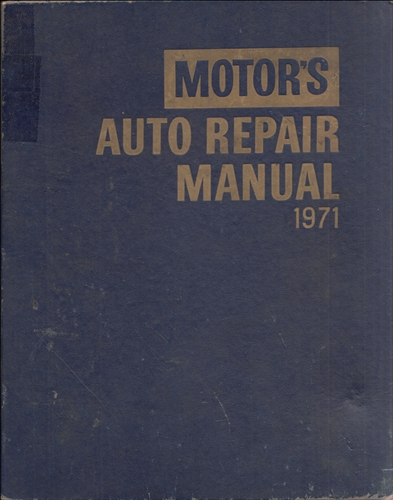 1965-1971 Motors 34th Edition Shop Manual