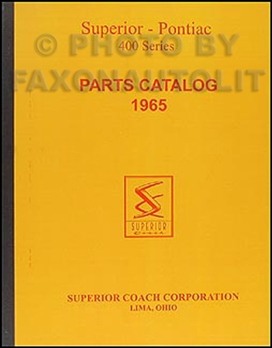 1965 Pontiac Superior Limousine Parts Manual Reprint