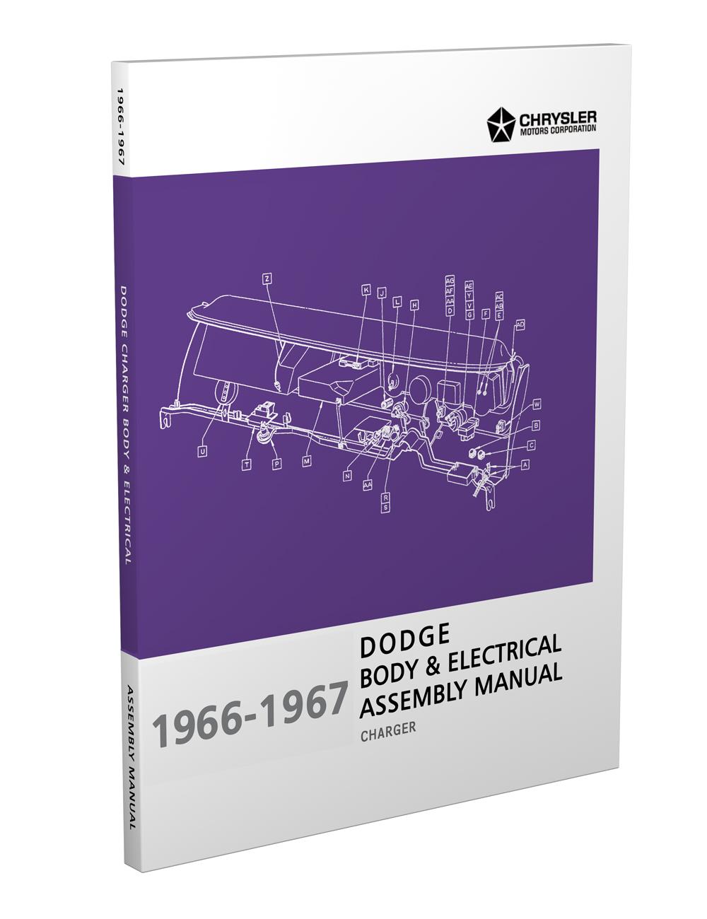1967 Dodge Charger  Coronet   U0026 Dart Repair Shop Manual Reprint