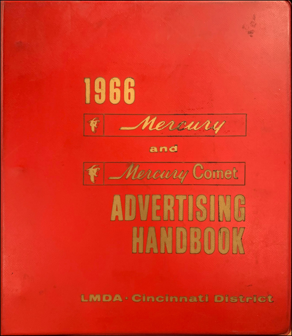 1966 Mercury Advertising Handbook Dealer Album Original