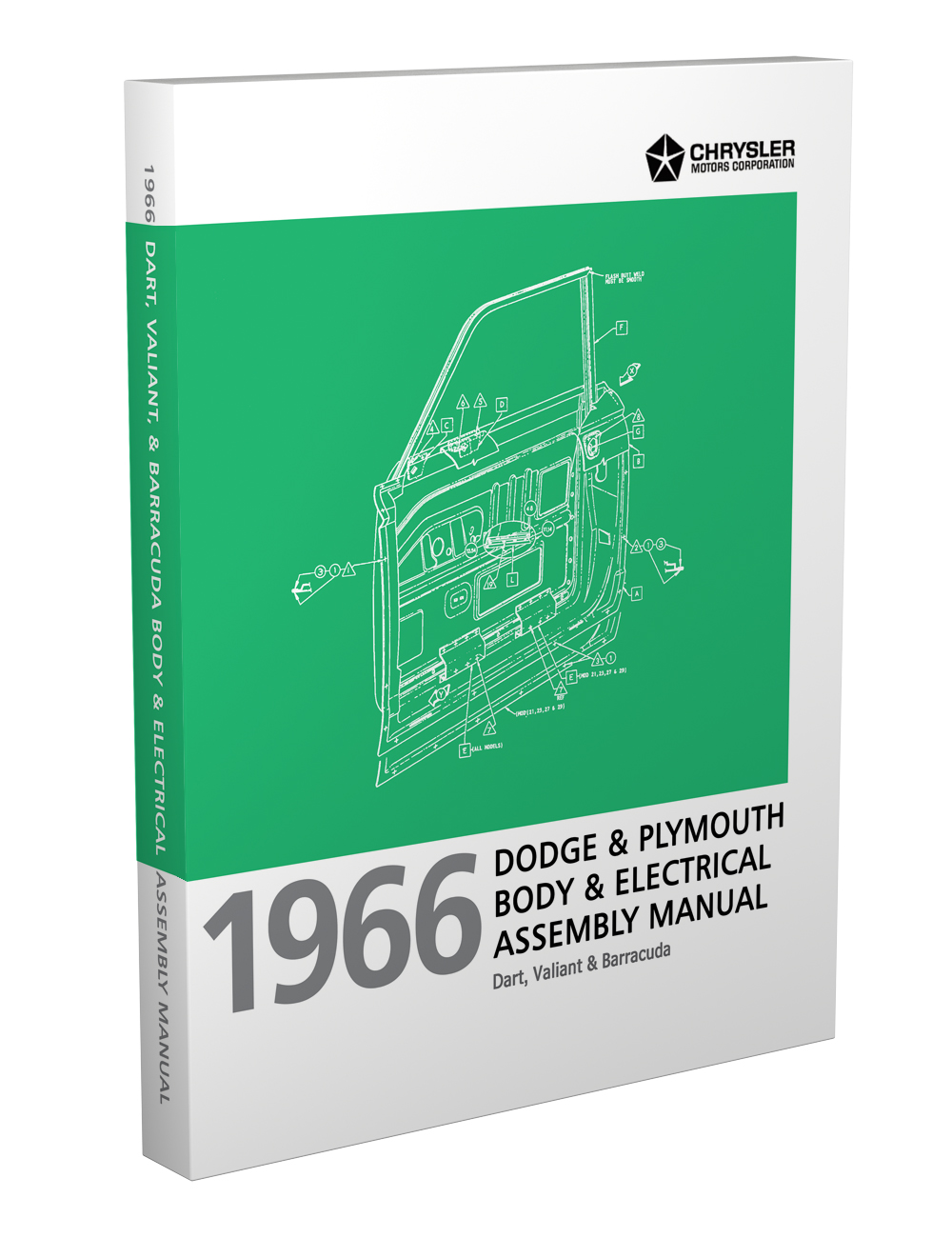 1966 Barracuda, Valiant and Dart Electrical and Body Assembly Manual Reprint