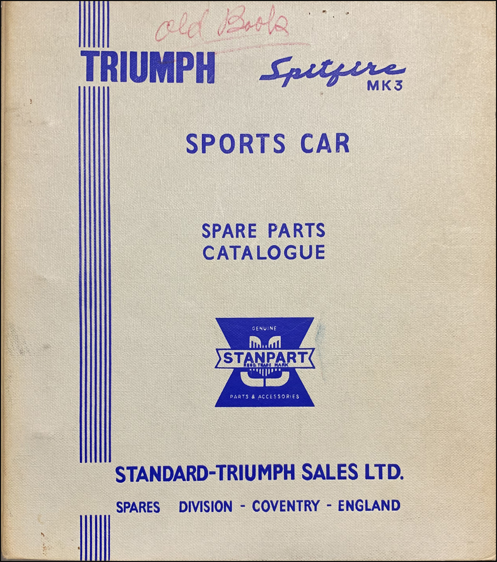 1967-1968 Triumph Spitfire Mark III Parts Book Original