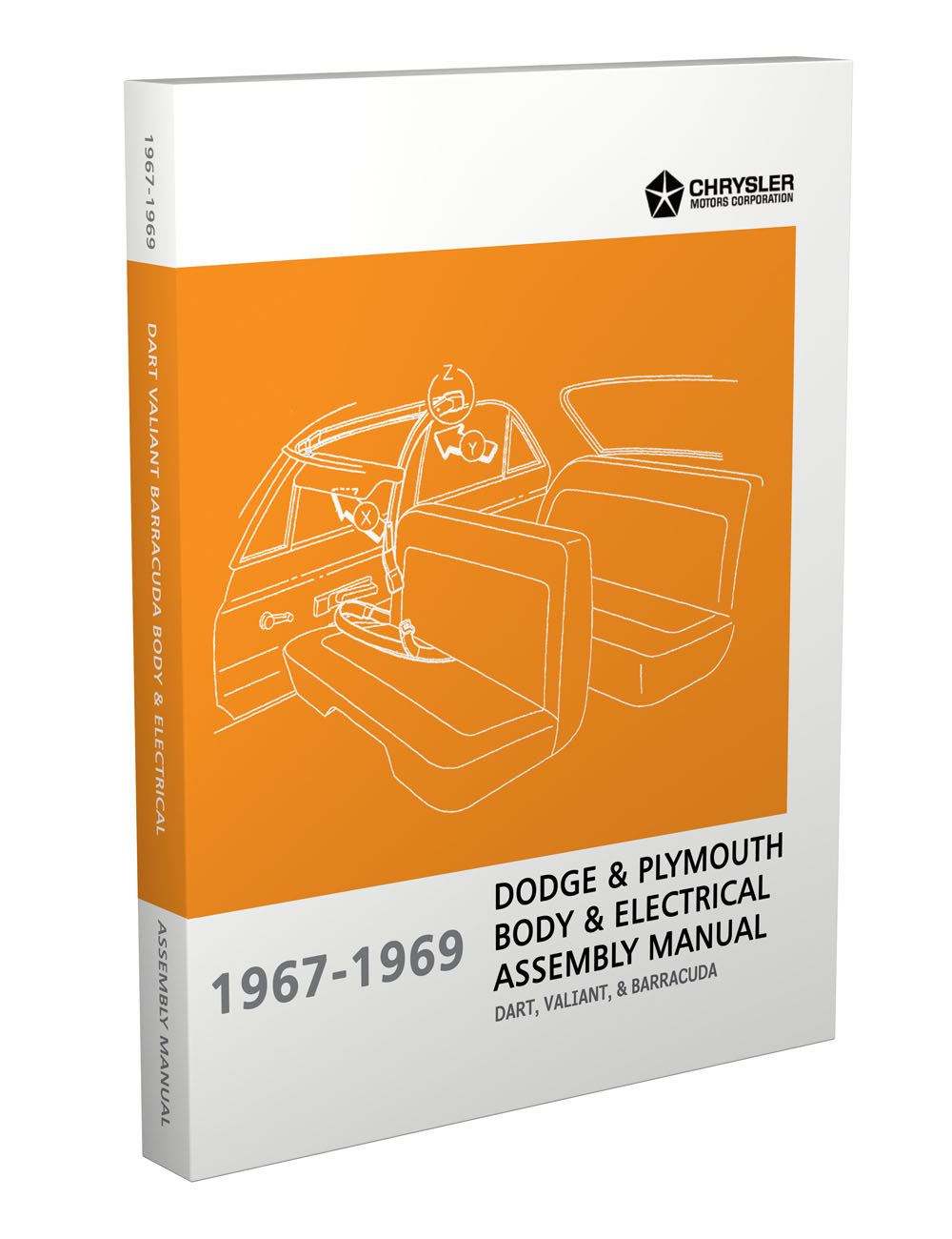 1967-1969 Barracuda, Valiant and Dart Electrical and Body Assembly Manual Reprint