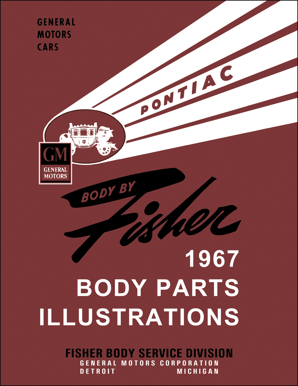 1967 Pontiac Fisher Body Parts Illustrations Manual Reprint