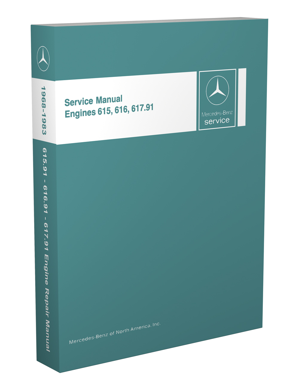 1968-81 Mercedes 615.91-616.91-617.9 Engine Repair Manual Reprint