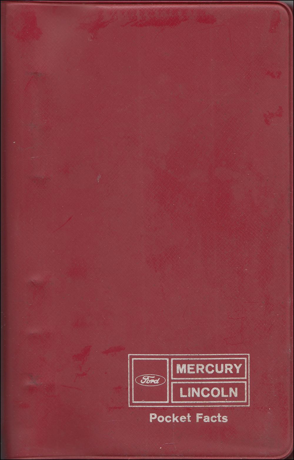 1968 Mercury Sales Catalog Original