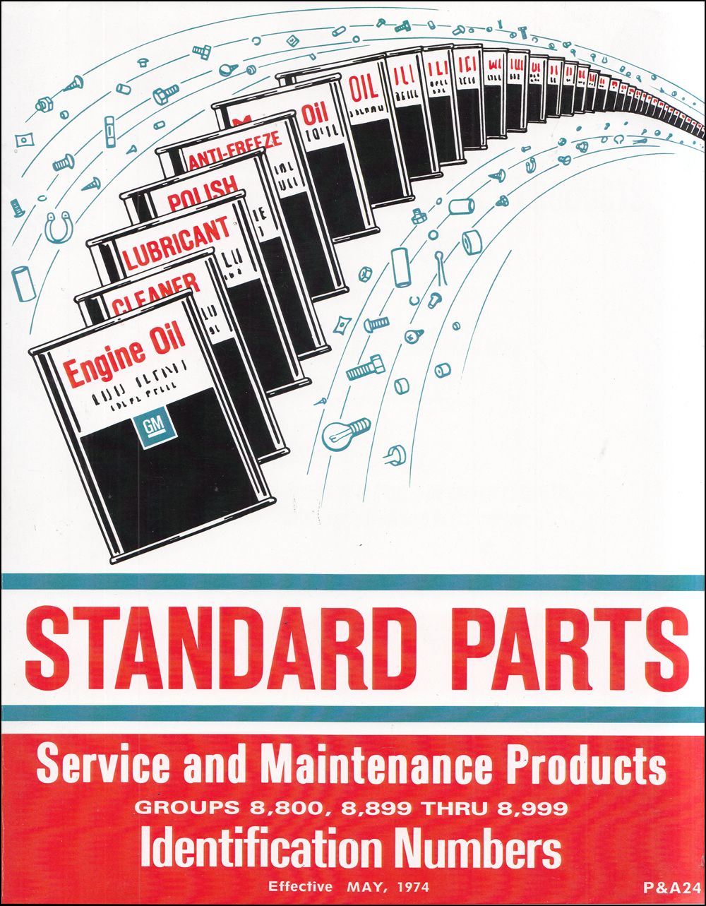 1969-1974 Chevrolet Standard Parts Catalog Reprint