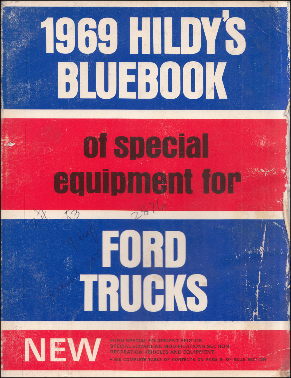 1969 Hildy's Blue Book Ford Truck Special Equipment Dealer Album