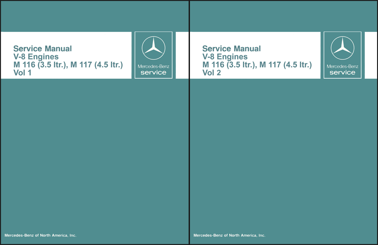 1971-80 Mercedes 3.5 & 4.5 M116-M117 Engine Reprint Repair Manual
