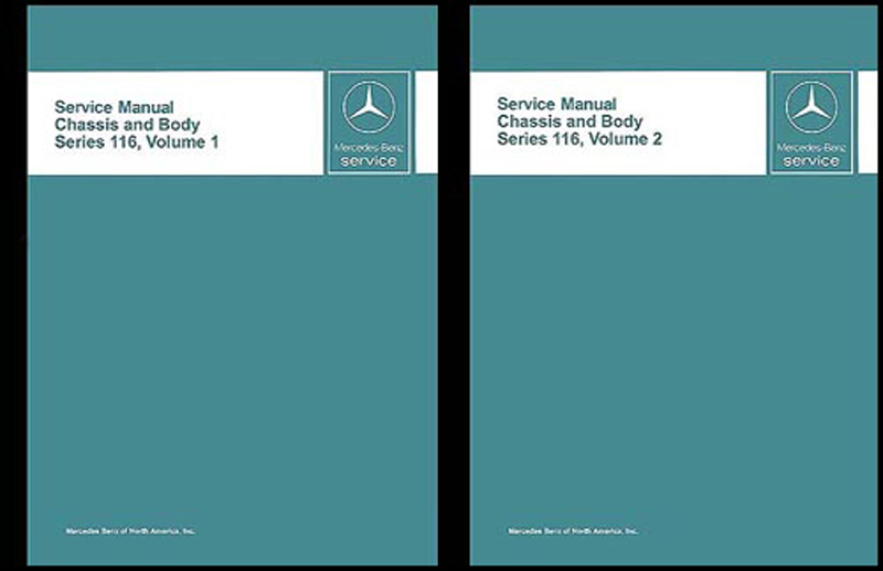 1973-1980 Mercedes 116 Chassis/Body Service Manual 280S/SE 300SD 450SE/SEL