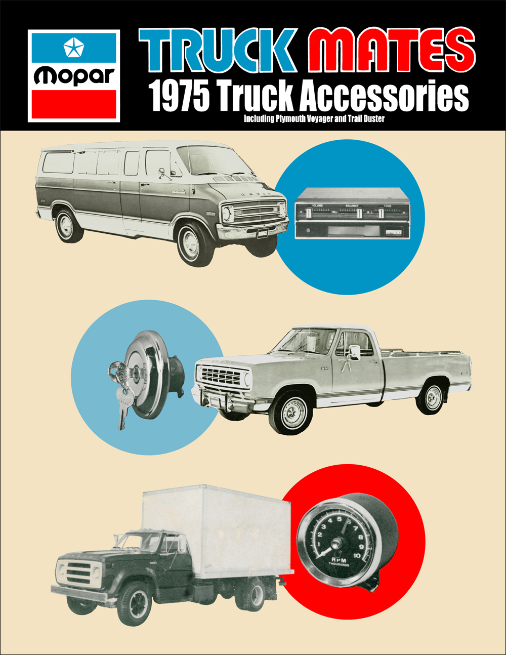 1975 Dodge Truck Accessories Parts Book Reprint