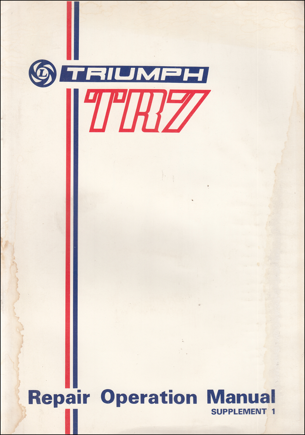1976 Triumph TR7 5-Speed Gearbox Repair Shop Manual Supplement Original