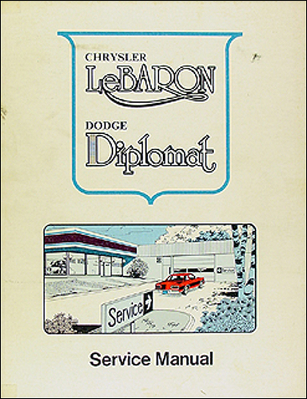 1977 Diplomat & LeBaron Repair Manual Original Supplement