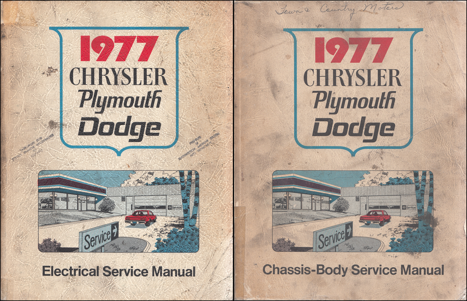 1977 MoPar RWD Car Repair Shop Manual 2 Vol Set